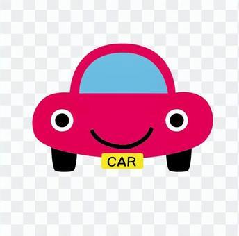 粉红色轿车笑