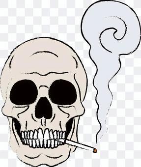 頭骨和香煙