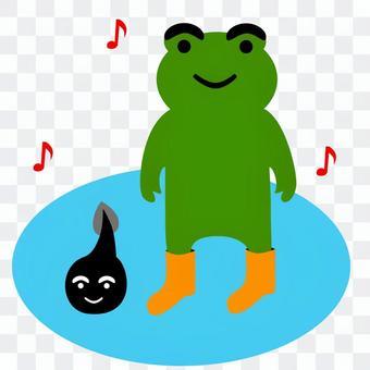 蛙とおたまじゃくし