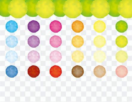 五顏六色的水彩漸變網材料