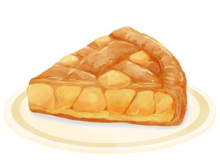 蘋果派(帶盤子)