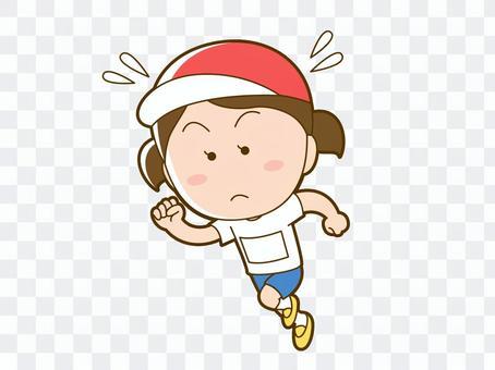 運動会で走る女の子_001