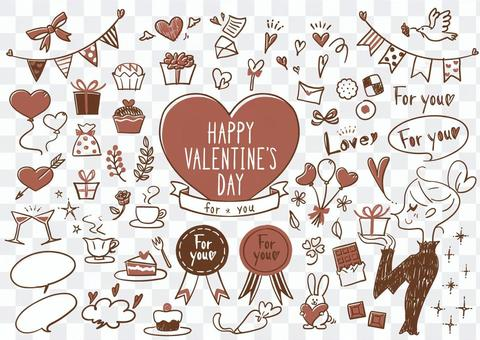 Valentine's icon set 3 colors