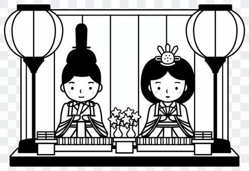 希娜娃娃(黑色和白色)
