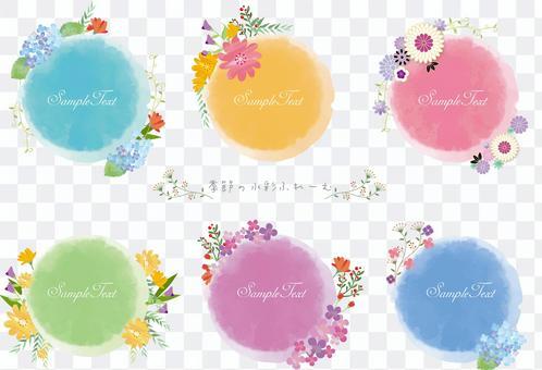 季節性花框六月