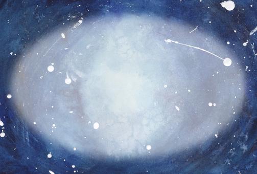 藍色(卵形空間)像太空或深海