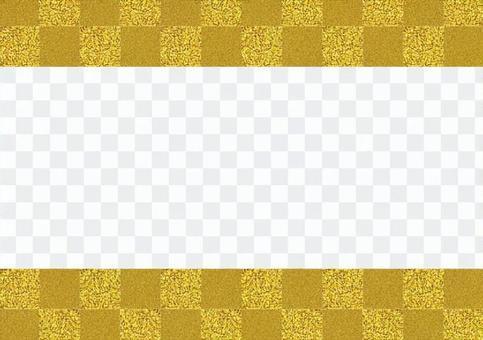 Checkered pattern (gold)
