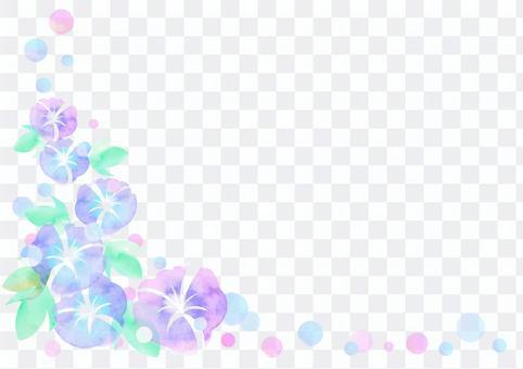 季節材料009牽牛花框架