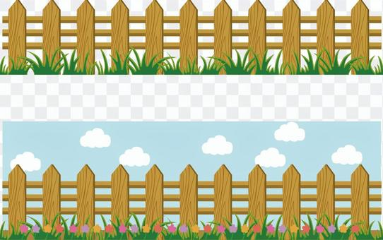 Flower fence frame fence partition sky decoration