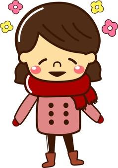 冬姑娘獨自微笑