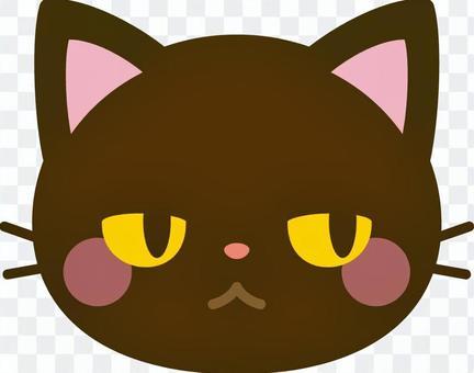 猫の顔 黒猫
