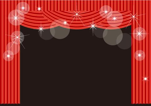 舞台和窗簾