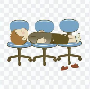 Chair sleep り