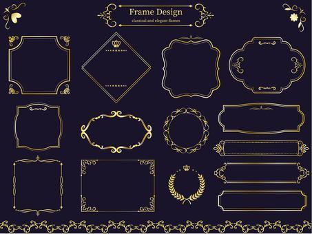 Classic & elegant frame gold