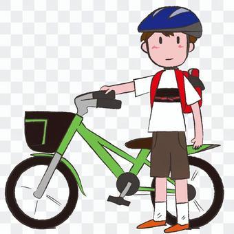 男孩和自行车