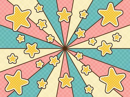 濃線背景復古明星