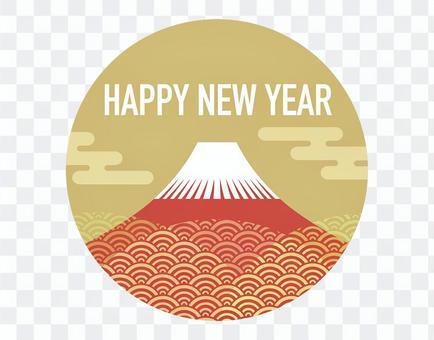 年賀状素材 富士山のシンボルイラスト