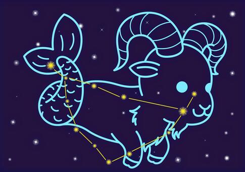 山羊座(カプリコーン)のイラスト
