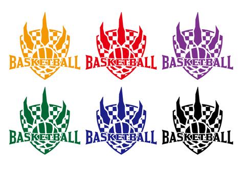 Basketball emblem set