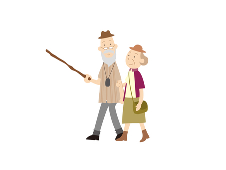 010: Walk with two people
