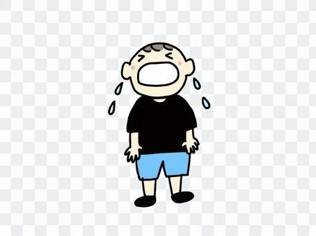 男孩哭哭(顏色)