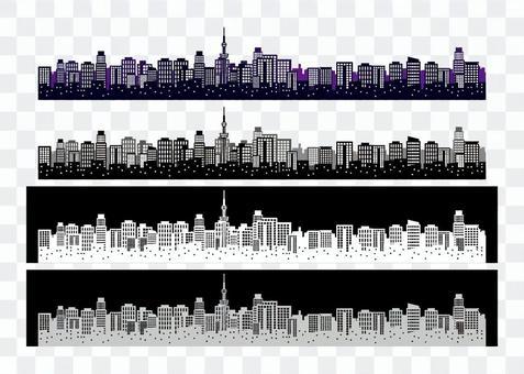 A067。城市景觀/剪影