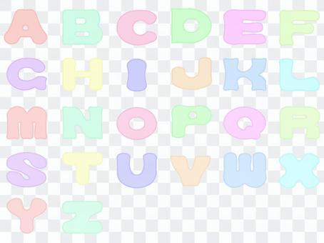 貼花樣式的字母(大寫)
