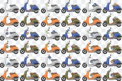 Assorted scooter without basket