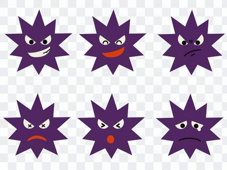 ウイルス 表情
