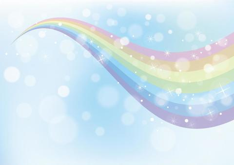 Rainbow and sky_background material 01