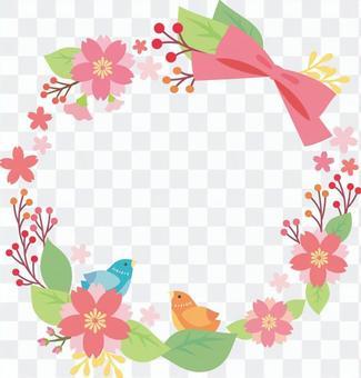 鸟和樱花装饰品
