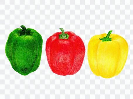 豆和辣椒粉(彩色鉛筆劃)