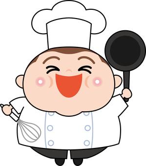 可愛的廚師角色