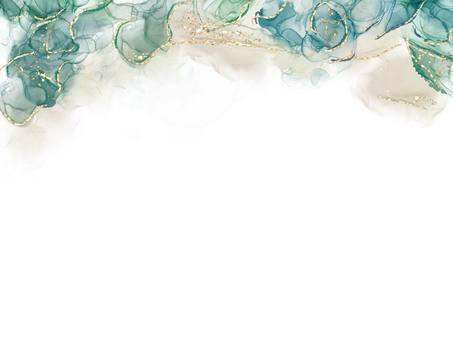 酒精水墨藝術綠色框架