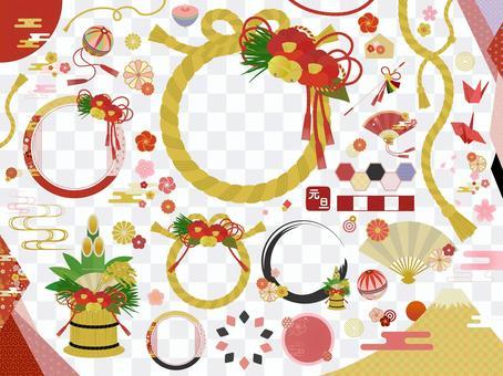 Shimeji新年問候充滿高雅的氣氛