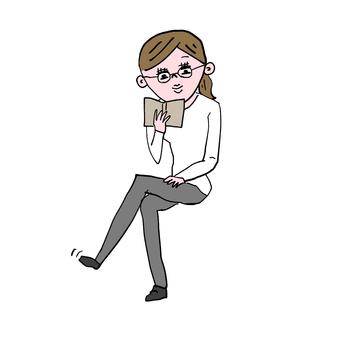 塗鴉女人閱讀