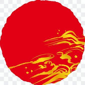 粗糙的圓b_rump _ red _ gold _ v 8