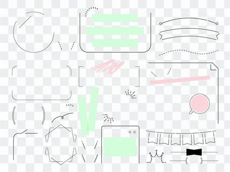 Title layout idea set