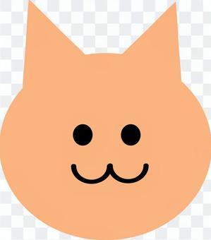 猫(顔のみ)