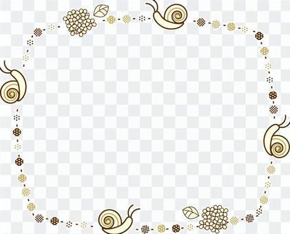 蝸牛和八仙花屬框架