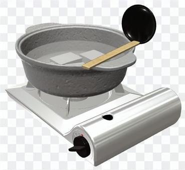 湯豆腐 カセットコンロ