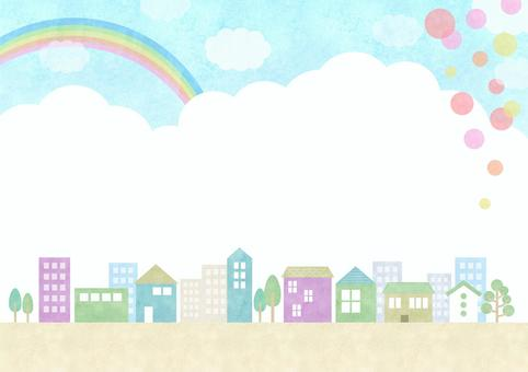Decorative material 103 Town background