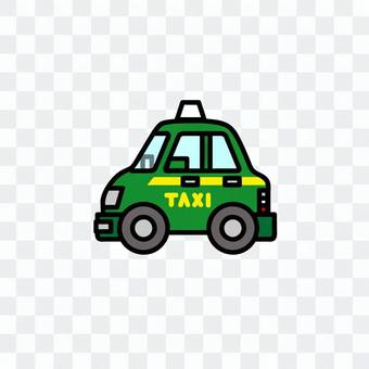 汽车插图(工作车:出租车)