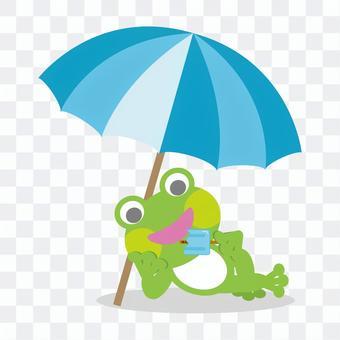 Frog to eat ice cream