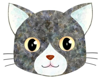 貓臉(灰/白)