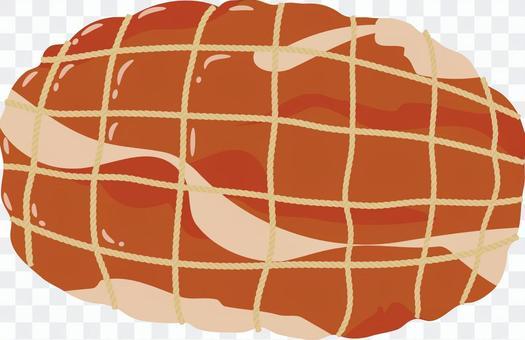 食品系列肉火腿塊