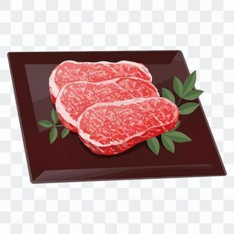 Fine beef, marbled meat, pork