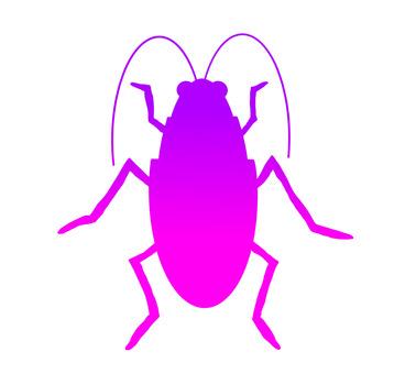 Cockroach silhouette (purple)
