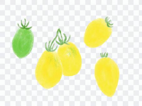 意大利番茄檸檬番茄沒有輪廓