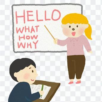 英語課(白老師)